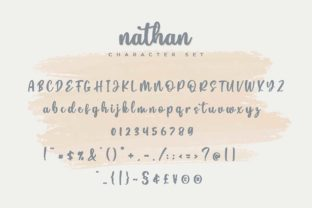 Print on Demand: Nathan Script & Handwritten Font By Typobia 6