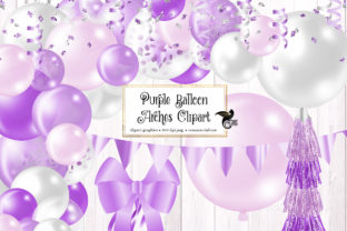 Print on Demand: Purple Balloon Arches Clipart Graphic Illustrations By Digital Curio