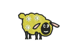 Sheep Animals Embroidery Design By Embroiderypacks
