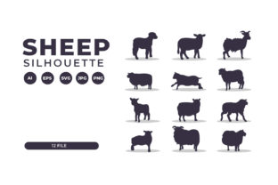 Silhouettes of Sheep Collection Graphic Illustrations By Role Graphic