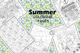 Summer Coloring Pages 15 Vector Items Graphic Coloring Pages & Books Kids By mi632883