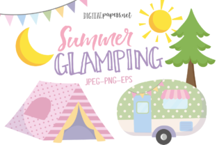 Print on Demand: Summer Glamping Graphic Illustrations By DigitalPapers