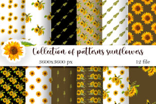 Print on Demand: Sunflowers and Wheat Seamless Pattern Graphic Patterns By ElenaZlataArt