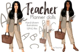 Teacher Planner Dolls Graphic Icons By Tanya Kart
