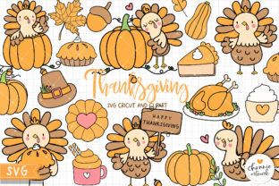 Print on Demand: Thanksgiving SVG, Turkey SVG Graphic Illustrations By Chonnieartwork