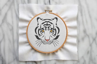 The Tiger Patch Wild Animals Embroidery Design By Wilansa