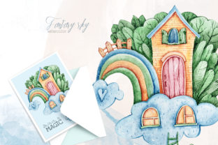 Print on Demand: Watercolor Cute Rainbow Sublimation Graphic Illustrations By Tiana Geo