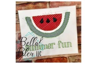 Watermelon Raggy Summer Embroidery Design By Bella Bleu Embroidery