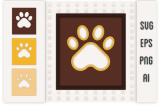 3D Layered Dog Paw Graphic 3D SVG By Rana Hamid