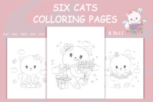 Print on Demand: Animals Coloring Book, Cat Coloring Page Graphic Coloring Pages & Books By artvarstudio