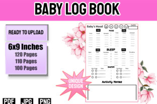 Print on Demand: Baby Logbook for Newborns Graphic KDP Interiors By Funnyarti