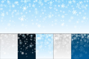 Print on Demand: Backgrounds of Falling Snowflakes Gráfico Fondos Por 31moonlight31