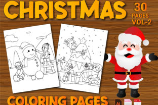Print on Demand: Christmas Coloring Pages Volume-2 Graphic Coloring Pages & Books Kids By Simran Store