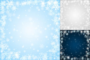 Print on Demand: Christmas Backgrounds of Snowflakes Graphic Backgrounds By 31moonlight31