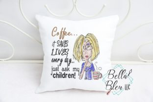 Coffee Saves Lives Tea & Coffee Embroidery Design By Bella Bleu Embroidery