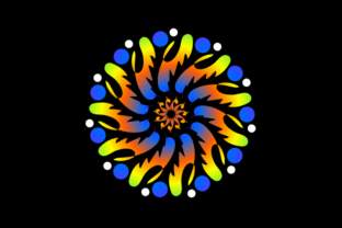 Print on Demand: Colorful Mandalas for Blankets Graphic Quilt Patterns By Dhuhayu