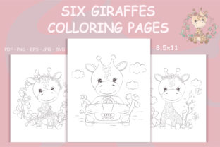 Print on Demand: Coloring Pages Giraffes, Cute Animals Graphic Coloring Pages & Books By artvarstudio