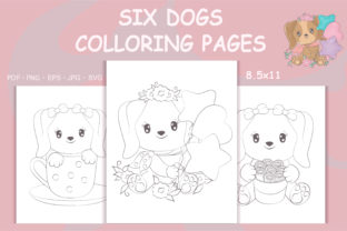 Print on Demand: Dogs Coloring Pages, Coloring Books Graphic Coloring Pages & Books By artvarstudio
