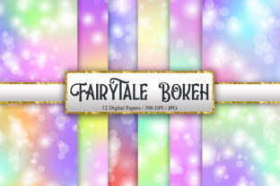 Print on Demand: Fairytale Bokeh Digital Papers Graphic Backgrounds By PinkPearly