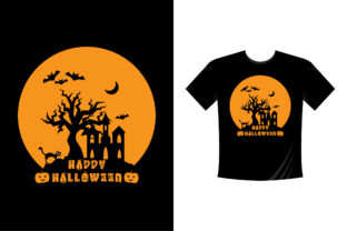 Print on Demand: Halloween T-Shirt Design 05 Graphic Crafts By colorify_design