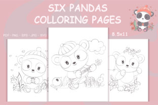 Print on Demand: KDP - Pandas Coloring Pages for Kids Graphic Coloring Pages & Books By artvarstudio