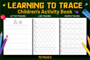 Learning to Trace Pre-Writing Workbook Graphic Coloring Pages & Books Kids By Kids_Zone