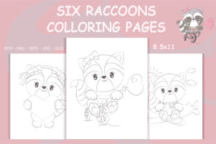 Print on Demand: Raccoons Coloring Page, Animals Books Graphic Coloring Pages & Books By artvarstudio