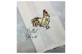 Rooster Farm Animals Embroidery Design By Bella Bleu Embroidery