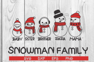 Print on Demand: Snowman Family SVG Graphic Graphic Templates By dadan_pm