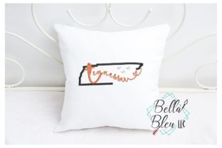 Tennessee North America Embroidery Design By Bella Bleu Embroidery