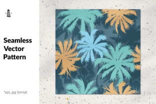 Print on Demand: Tropical Palm Tree Seamless Pattern Graphic Patterns By northseastudio