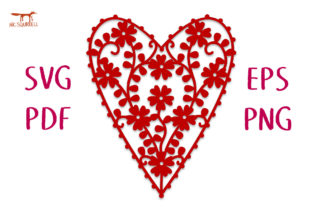 Wild Roses Heart SVG Cut File Graphic Crafts By Nic Squirrell