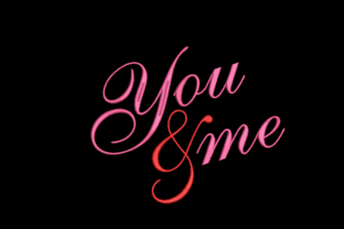 You and Me Wedding Quotes Embroidery Design By qpcarta