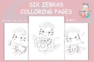 Print on Demand: Zebras Coloring Pages for Kids Graphic Coloring Pages & Books By artvarstudio