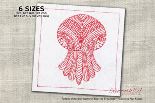 Zentangle Jellyfish Zentangle Embroidery Design By Redwork101