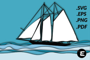 Print on Demand: Boat Graphic 3D SVG By grafikestelle