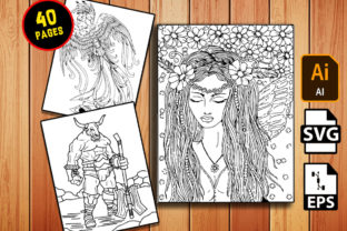 Print on Demand: 40 Mythical Creatures Coloring Pages Graphic Coloring Pages & Books Adults By Dreamsky Publishing