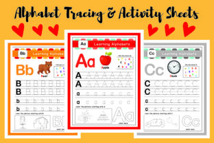 Alphabet Activity Tracing Worksheets Graphic PreK By Resources by Mariam