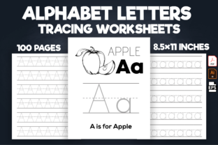 Print on Demand: Alphabet Traceable Handwriting Worksheet Graphic Teaching Materials By Kristy Coloring