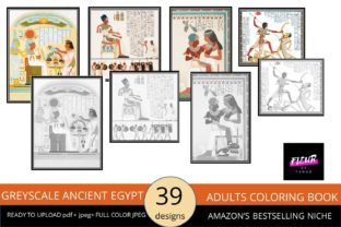 Print on Demand: Ancient Egypt Adult Coloring Book Graphic Coloring Pages & Books Adults By Fleur de Tango