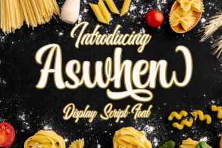 Print on Demand: Aswhen Display Font By Dansdesign