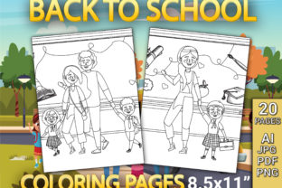 Print on Demand: Back to School Coloring Pages Graphic Coloring Pages & Books Kids By Simran Store