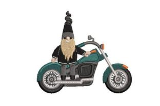 Biker Gnome Sports Embroidery Design By Embroidery Designs