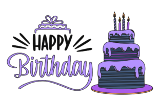 Birthday Lettering Tart Filled Outline Graphic Icons By eyeaglestudio
