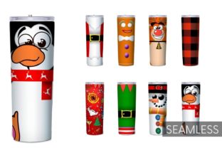 Christmas Tumbler Sublimation Graphic Print Templates By SvgOcean