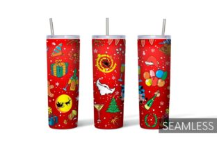 Christmas Tumbler Sublimation Graphic Print Templates By SvgOcean 6