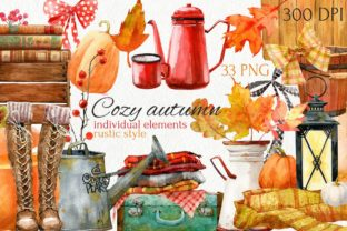 Print on Demand: Cozy Autumn. Watercolor Fall Clipart Bundle Graphic Illustrations By CherrypearStudio