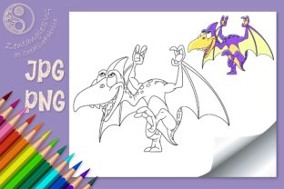 Dinosaur Coloring Page for Kids Graphic Coloring Pages & Books Kids By ZentangleSVG