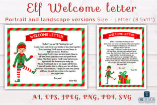 Elf Welcome Letter Printable. Graphic Graphic Templates By OK-Design