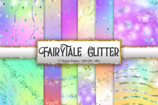 Print on Demand: Fairytale Glitter Digital Papers Graphic Backgrounds By PinkPearly